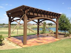 Castle Stone Stamped Concrete, Concrete Staining, with 6 earth tone colors, Stained and Sealed Concrete. Concrete Staining, Concrete Finishes, Stamped Concrete, Earth Tone Colors, Earth Tones, Pergola, Castle, Outdoor Structures, Exterior