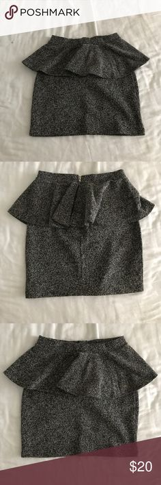 NWOT TOPSHOP peplum skirt! NWOT really flattering and comfortable skirt from TOPSHOP! Topshop Skirts Mini