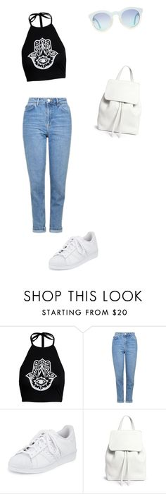 """""""STREET STYLE : CASUAL OUTFIT"""" by charlotte-horan on Polyvore featuring mode, Topshop, adidas et Mansur Gavriel"""