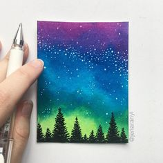 I can't get over these colors 😍 I love these little mini paintings. I think they're a great way to own original art, without having to spend a ton of money. (SOLD)
