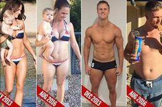Koppel smult zich dik om daarna te bewijzen dat hun fitnessprogramma werkt