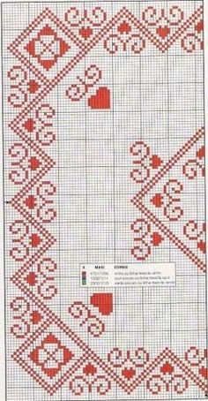 Cross Stitch Bookmarks, Cross Stitch Heart, Cross Stitch Borders, Cross Stitch Flowers, Cross Stitch Designs, Cross Stitching, Cross Stitch Patterns, Blackwork Patterns, Blackwork Embroidery