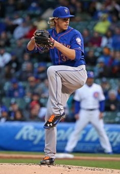 Starting pitcher Noah Syndergaard  34 of the New York Mets makes his Major  League debut c706d7013