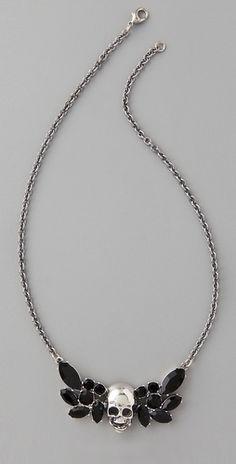 TOM BINNS Della Notte Winged Skull Necklace - StyleSays
