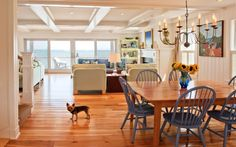 beach style dining room by Mary Prince