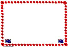 A poppy border template suitable for a writing or drawing ANZAC activity. Border Templates, National Curriculum, Anzac Day, Blank Page, Australian Curriculum, Writing Resources, Work Inspiration, Poppy, Literacy
