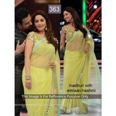 Madhuri with Imran Hashmi Net Bollywood Dress