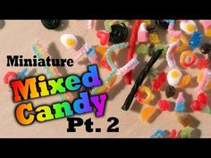 Mini Candy Shop #2; Miniature Twizzlers + Pick N' Mix - Polymer Clay Tutorial - YouTube