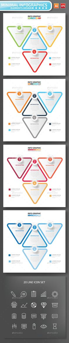 Minimal infographic Design Template Vector EPS, AI Illustrator. Download here: https://graphicriver.net/item/minimal-infographic-design/17070388?ref=ksioks
