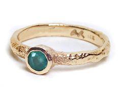 Anouk Jewelry - Emerald Solitaire Ring by Toronto Custom Jewellery Designer