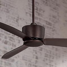 "48"" Merit Oil-Rubbed Bronze Damp Ceiling Fan - #7D504 | LampsPlus.com"