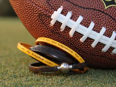 Leather Wraps show your team spirit!  #BlackandGold #Vanderbilt #Commodores #Mizzou #Missouri #ScottsboroWildcats #Pittsburgh Steelers  www.faithandlovebracelets.com