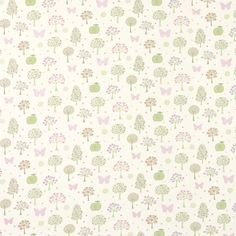 Esme Drapery Fabric Multi/White | Laura Ashley USA