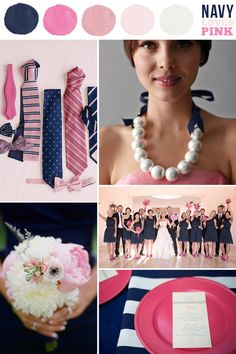 Navy and pink color scheme -- Belle the Magazine . The Wedding Blog For The Sophisticated Bride