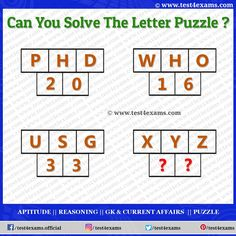 Letter Puzzle is very important in many competitive exams. Think logically to solve this Letter Puzzle Logic. We create various types and different logic. Aptitude And Reasoning, Logic Questions, Play Quiz, Brain Teaser Puzzles, Challenging Puzzles, Online Tests, Problem Solving Skills, Brain Teasers, Love Can
