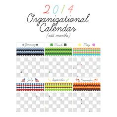 Free Printable Organizational Calendar a New Year's Gift to you - The Cottage Market