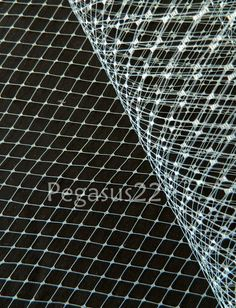 POWDER BLUE French Netting - Birdcage Veil Material