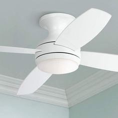 "52"" Casa Elite White LED Hugger Ceiling Fan - #9M779 