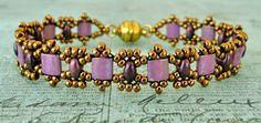 Linda's Crafty Inspirations: Bracelet of the Day: Tallulah Tila - Mauve Luster