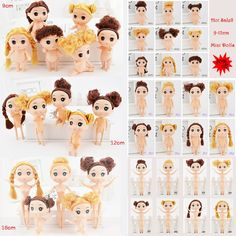 0.62$  Buy now - http://ali1o4.shopchina.info/go.php?t=32750300447 - 9-18cm Mini Dolls With Brown Golden Hair 25 Style Choose Cute Ddung Cheap Dolls For Girls Toy Birthday Present Christmas Gift 0.62$ #magazineonlinebeautiful