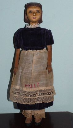 A O Helen Bullard Holly Wooden Doll Hitty Type | eBay