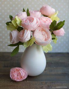 DIY Crepe Paper Juliet Roses
