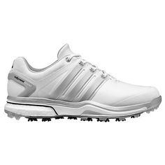 d12a3bc68 ADIDAS Men s Adipower Boost Golf Shoes White Silver Size 9 NEW IN BOX  190  Golf