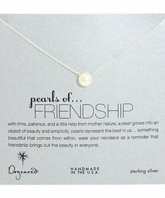 Dogeared Pearls of Friendship Necklace #accessories  #jewelry  #necklaces  https://www.heeyy.com/suggests/dogeared-pearls-of-friendship-necklace-sterling-silver/