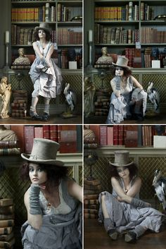 Helena Bonham Carter - Bazaar UK outtakes by John Swannell, December 2011