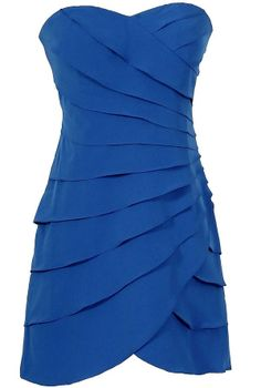 Lovely and Layered Tiered Designer Dress in Bright Blue  www.lilyboutique.com