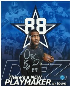 Dez Bryant Dallas Cowboys Autographed 8x10 Photo with COA.