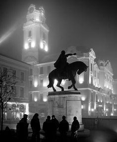 In The Midst Of Pécs (Hungary) - The statue at the centre of the picture is of the 15th century military leader János Hunyadi who defended the area against the advance of the Ottoman Turks and fathered the great king of Hungary Matthias Corvinus.