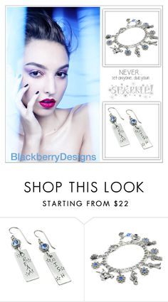 """""""Dream Blue (Blackberry Designs on Etsy #24)"""" by shambala-379 ❤ liked on Polyvore featuring Wall Pops!"""