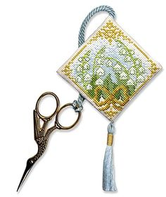 Textile Heritage Scissor Keep Cross Stitch Kit - Lily of ...