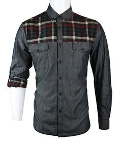 Take a look at this Black Flannel Barnacle Button-Up - Men by Sovereign Code on @zulily today!