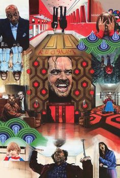 Artist Paul Stone combines some classic images from Stanley Kubrick's chilling 1980 movie The Shining into one great poster! Ships fast. 24x36 inches. Need Poster Mounts..? su3562 sc32516