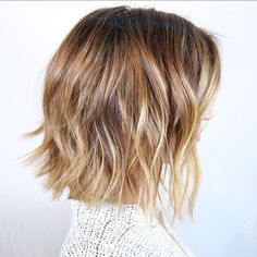short messy bob haircut for thick hair