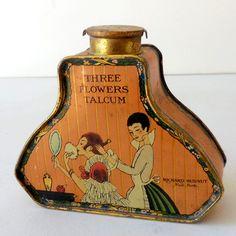 Vintage talcum tin of the 1920's