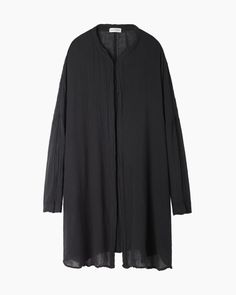 Black Crane / Rumpled Cotton Square Shirt+
