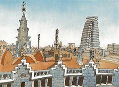 Urban Sketchers Spain. El mundo dibujo a dibujo.: Gaudí, Barcelona