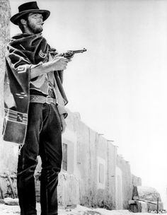 Clint Eastwood in the Sergio Leone Spaghetti Western classic For a Few Dollars More (1965).