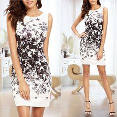 Hot Women Summer Casual Sleeveless Evening Party Cocktail Dress Short Mini Dress #Unbranded #StretchBodycon #Casual