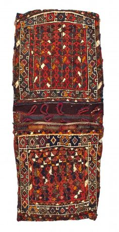 The Kordjin double pockets were made by Shiraz nomads in South-West Iran and in…