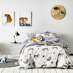 for Bear :) Adairs Kids, Tiny Furniture, Single Quilt, Light Grey Walls, Bed Linen Design, Frames On Wall, Framed Wall, Childrens Room Decor, Quilt Cover Sets