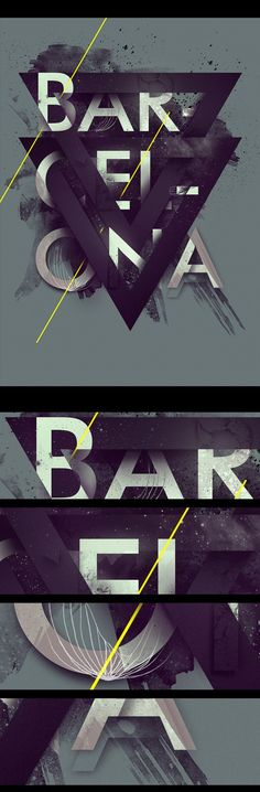 BARCELONA - Dynamic poster design #3d #typography #geometric How does one even come up with an idea like this?