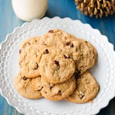 These cookies are a spin off of our normal chocolate chip cookies, but they're every bit as delicious - the perfect Christmas cookie!