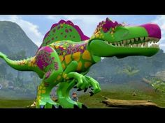 LEGO Jurassic World - A look at the Custom Dinosaur Creator & Dinosaur Gameplay T Rex Jurassic Park, Lego Jurassic World, Super Cool Stuff, Lego Games, Prehistoric Creatures, Lego Models, Thundercats, Lego Duplo, Lego City