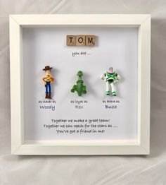 christmas gifts Excited to share this item from my shop: Personalised Toy Story frame - special words for a special person - birthday present - christmas gift- Woody- Buzz- Jessie