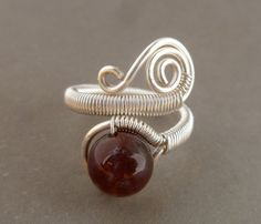 Wire Wrapped Ring // India agate gemstone // by PillarOfSaltStudio, $19.00