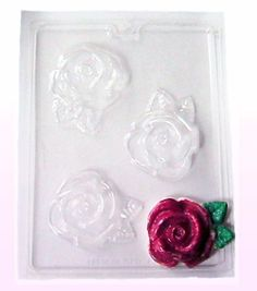 Large Roses 3 cavity soap/ candy mold new by DLCS on Etsy, $2.99